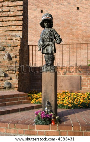 Monument to the Little Insurgent, Warsaw, Poland.