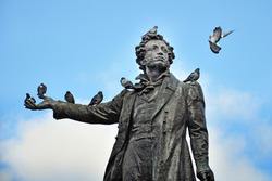 Monument to the poet Pushkin in St. Petersburg