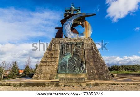 Monument to the Pope in Gozo mountain, Santiago de Compostela.