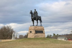 Monument to Union Major General George G. Meade at Gettysburg