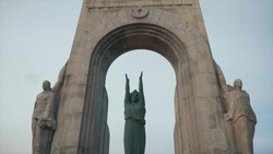 Monument to war heroes in one of the cities of Europe. Stock.