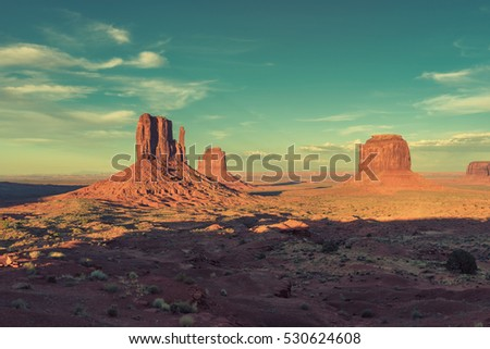 monument valley at sunset ...