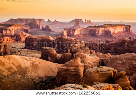 Monument Valley, desert canyon in USA