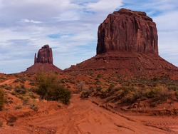 Monument Valley. East Mitten Butte and Merrick Butte from Valley Drive.