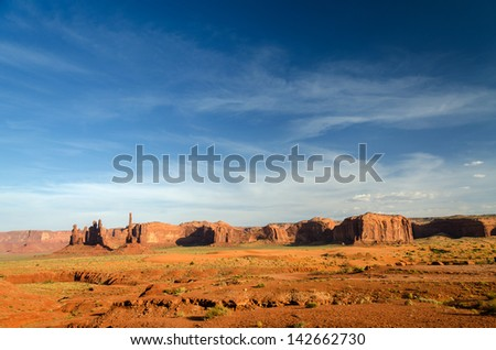 Monument Valley in Utah in the United States of America