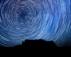 Monument Valley Long Exposure Star Trail Image