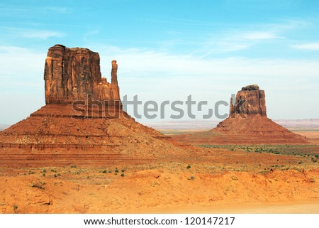 Monument Valley National Park, Arizona. Mittens - stock photo