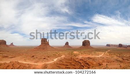Monument Valley Navajo Tribal Park, in Navajo country USA