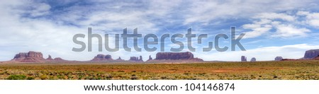 Monument Valley Navajo Tribal Park, in Navajo country USA. View from US163.