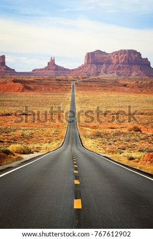 Monument Valley near the Utah and Arizona border, USA. #767612902