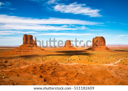 Shutterstock Monument Valley on the border between Arizona and Utah in United States