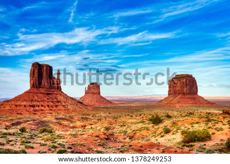 Monument Valley on the Border between Arizona and Utah, United States Stock photo ©