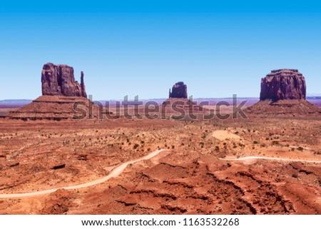 Monument Valley rock formation, right mitten, left mitten #1163532268