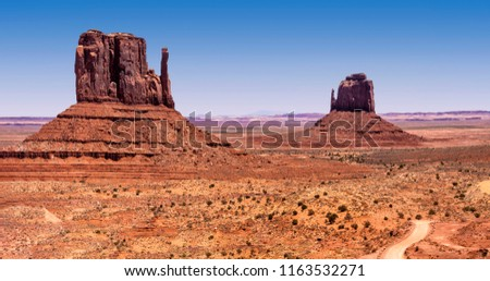 Monument Valley rock formation, right mitten, left mitten #1163532271