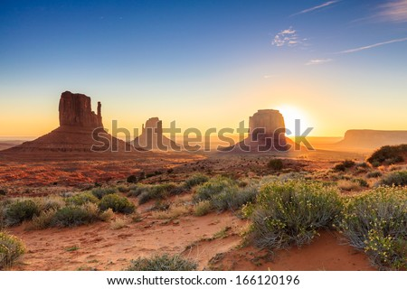 Monument Valley twilight, AZ, USA