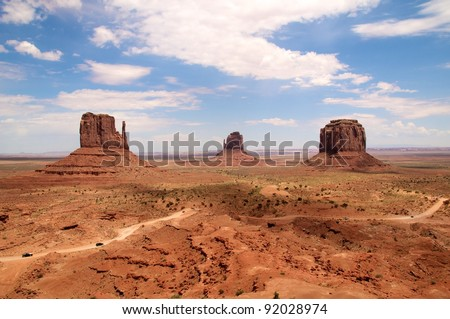 Monument Valley Valley Tribal Park, Arizona.