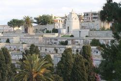 Monumental Cemetery of Bonaria, Cagliari. Italy