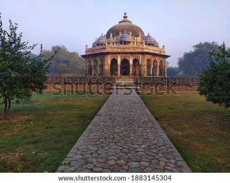Monuments of Delhi has this Issah Khan's Tomb in the complex of Humayun's Tomb complex. Delhi is in our hearts, and this is in heart of Delhi