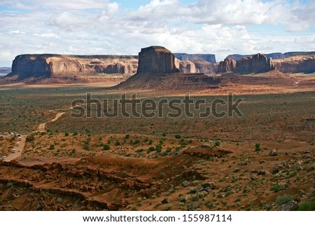 Monuments Valley Scenery. Northern Arizona Navajo Indians Tribal Park. United States of America Nature Landscapes Photo Collection.