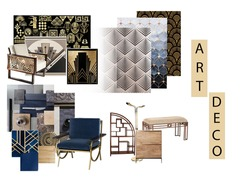 mood board of art deco design