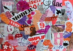 Mood board of magazines in girls colors