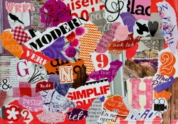 Mood board of pieces magazines  for girls