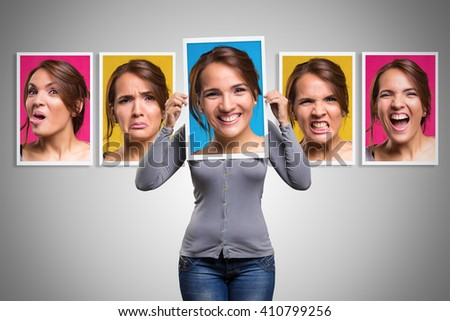 Mood changes in a woman in her day period