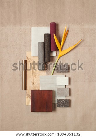Moodboards for architects styling and selection 商業照片 ©