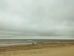 Moody beach at the Netherlands.