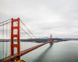 Moody goldengate bridge