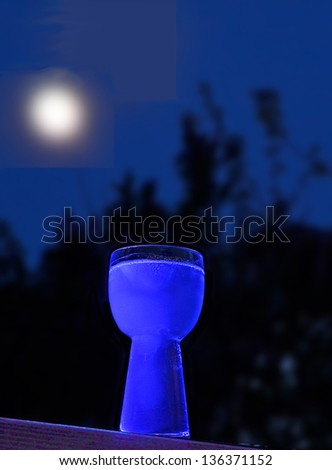 moon and glowing drink