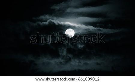 Moon and night sky #661009012
