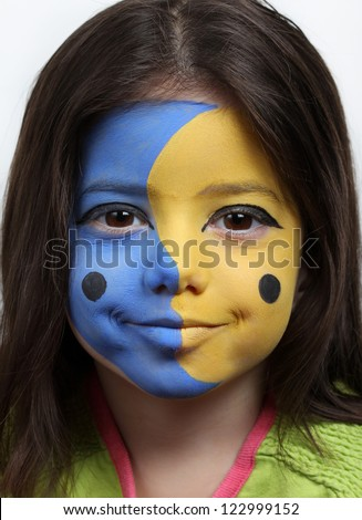 Moon and Sun face painting