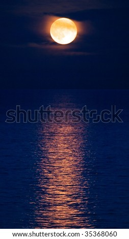 Moon and water.