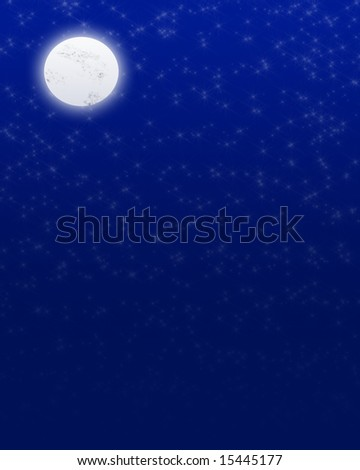 Moon blue night
