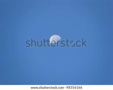 Moon floating in the morning sky