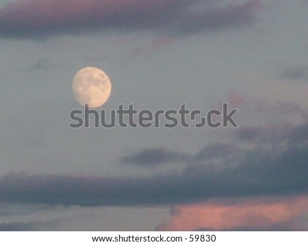 moon in the evening