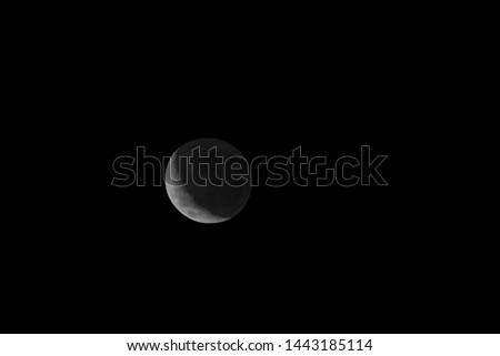 moon in the midnight black