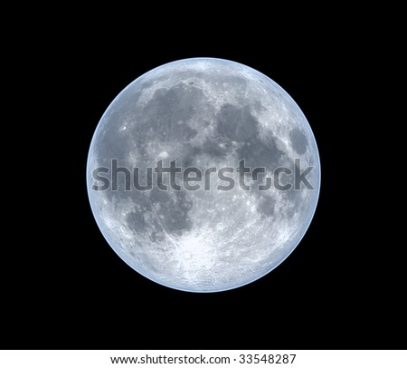 Moon, isolated over black