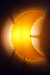 Moon Lamp on room wall 2