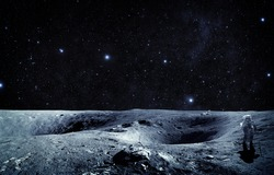 Moon Landing - Elements of this Image Furnished by NASA