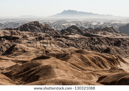 Moon Landscape in the Swakop River Valley in Namibia