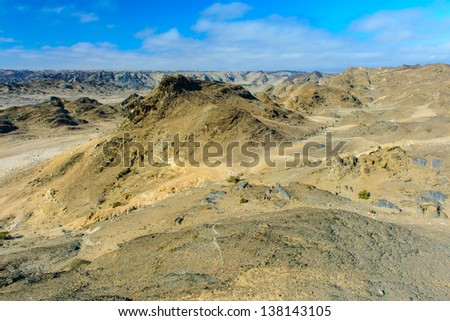 Moon Landscape in the Swakop River Valley, Namibia, Africa #138143105