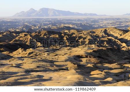 Moon landscape. Namibia
