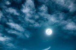 Moon Night sky cloud wallpaper background.
