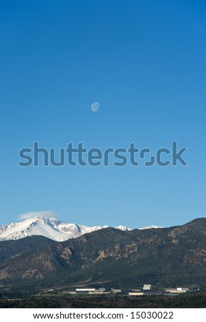 Moon over Air Force Academy