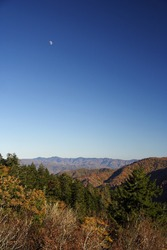 Moon over the Cherokee National Forest, Appalachia