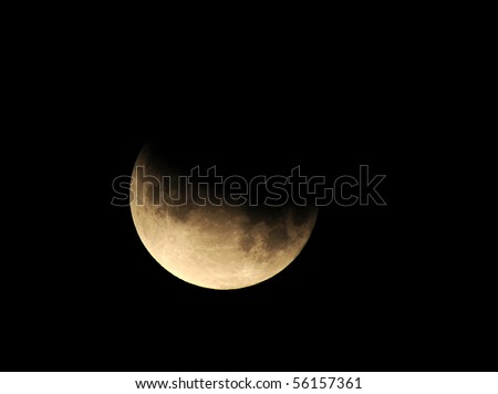 moon, partial lunar eclipse as seen from Los Angeles, California June 26th 2010