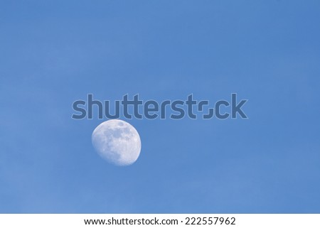 moon photographed during the day