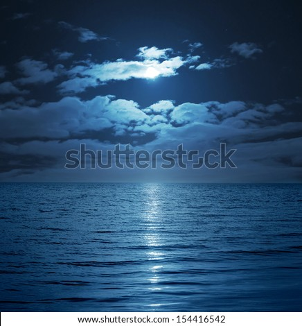 moon reflecting in a lake #154416542